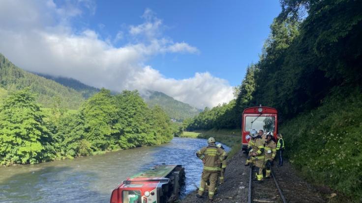Laut dem Einsatzleiter der Rettungskräfte lagen nach einem Unwetter Wurzeln oder Ähnliches auf den Schienen. (Foto)