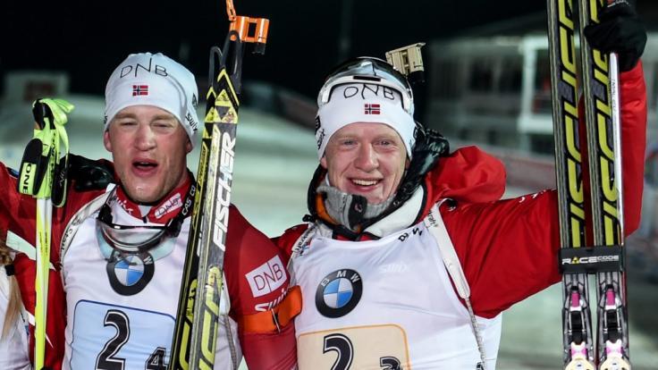 Die norwegischen Biathlon-Brüder Tarjei Bø und Johannes Thingnes Bø werden beim City-Biathlon 2021 in Wiesbaden dabei sein. (Foto)