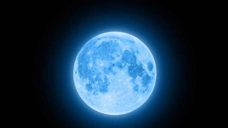 """2020 erstrahlt ein """"Blue Moon"""" am Nachthimmel. (Foto)"""