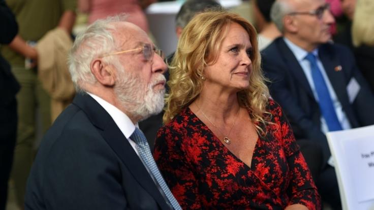 Dieter Hallervorden und Christiane Zander am 05. Juli 2016 in Berlin beim Sommerempfang anlässlich des 30-jährigen Jubiläums des Bundesfrauenministeriums.