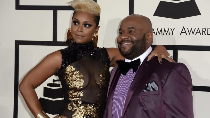 Musikproduzent LaShawn Daniels, hier mit seiner Ehefrau April Daniels bei den Grammy Awards 2014, ist mit 41 Jahren gestorben.