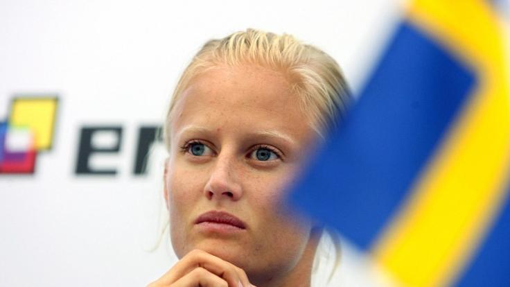Die Schwedin Carolina Klüft bei der Leichtathletik-WM 2007 in Osaka.