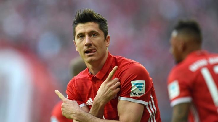 Robert Lewandowski muss mit dem FC Bayern München am 29. Spieltag der Fußball-Bundesliga gegen Bayer Leverkusen ran.