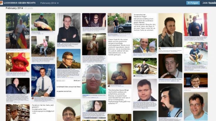Zahlreiche Bilder der Netz-Nazis finden sich bereits auf dem Tumblr-Blog «Lookismus gegen Rechts».