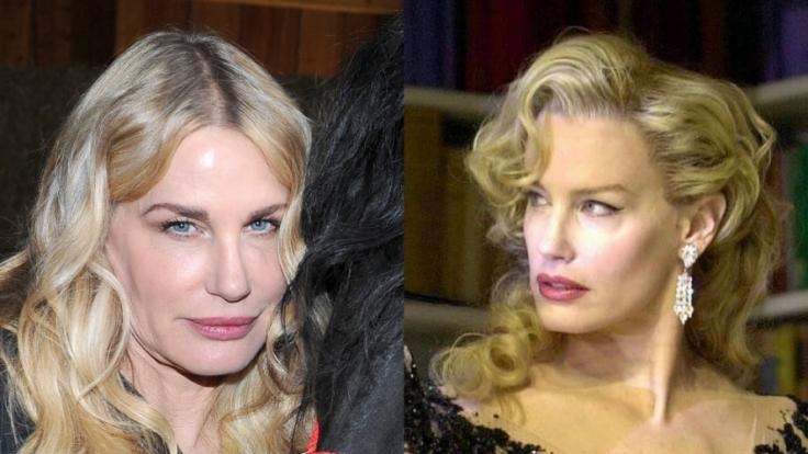 2000 sah Daryl Hannah im Alter von 40 Jahren noch aus wie aus dem Ei gepellt (rechts). In der Zwischenzeit war sie wohl etwas zu oft beim Schönheits-Doc. (Foto)