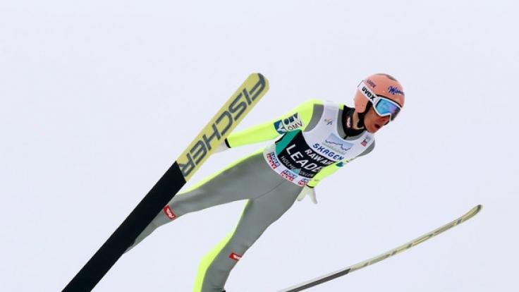 Stefan Kraft aus Österreich will in Lillehammer die Sieg-Prämie mit nach Hause nehmen.