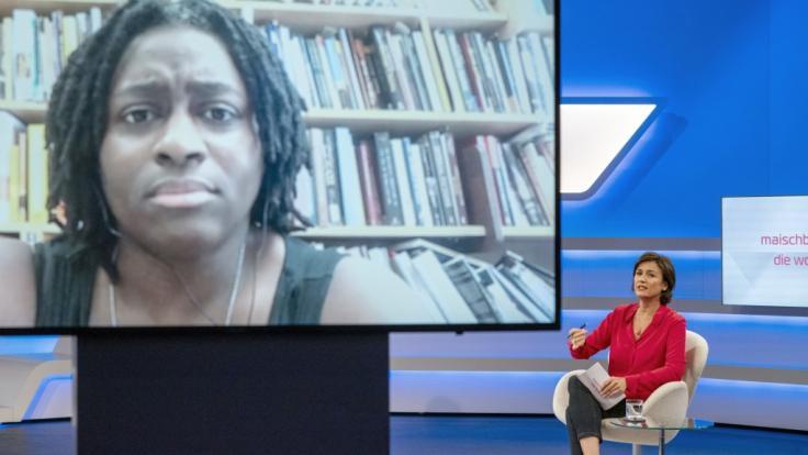 Nach heftigem Protest lud Sandra Maischberger die US-Professorin Priscilla Layne per Video-Schalte in ihre Talkshow ein. (Foto)