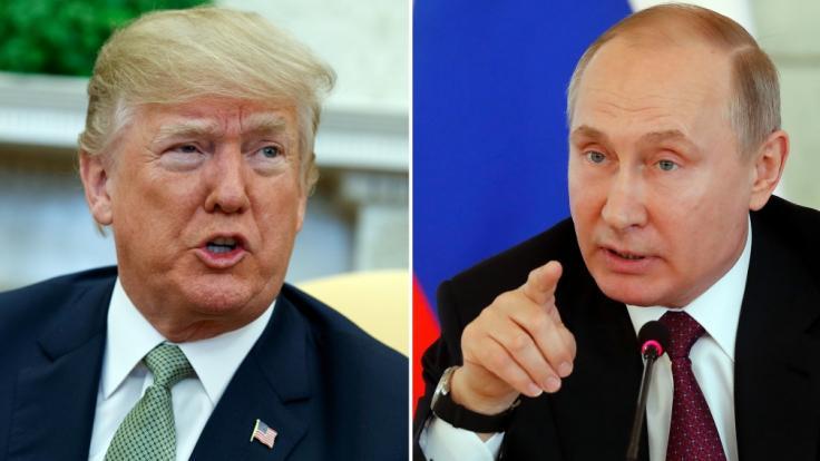 Der russische Präsident Wladimir Putin traut seinem US-amerikanischen Kollegen Donald Trump offenbar zu, den 3. Weltkrieg mit interstellarer Beteiligung loszutreten. (Foto)