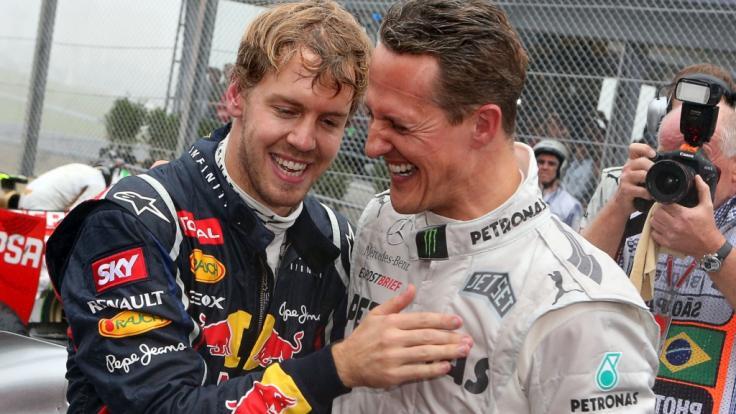 Sebastian Vettel und Michael Schumacher rasten einst zusammen über die Rennstrecken.