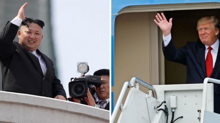 Nordkoreas Staatsoberhaupt Kim Jong Un (links) und US-Präsident Donald Trump: Gibt es eine Chance auf Frieden?