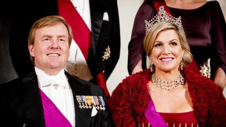 Willem-Alexander der Niederlande mit seiner Frau Máxima.