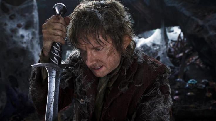 Auf der Suche nach dem bösen Drachen Smaug müssen Bilbo (Martin Freeman) und seine Gefährten den Düsterwald durchforsten. (Foto)