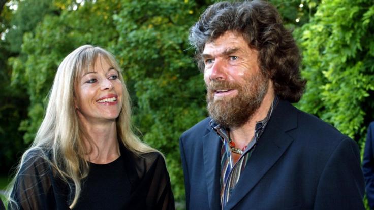 Reinhold Messner mit seiner Ex-Frau Sabine Stehle. (Foto)