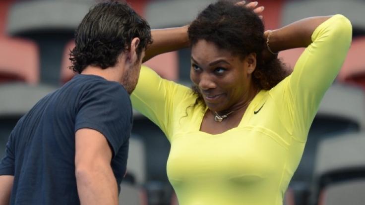 Verliebte Blicke: Serena Williams und ihr Trainer Patrick Mouratoglou.