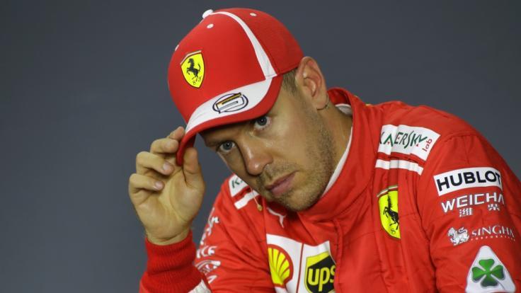 Sebastian Vettel hatte bei den Testfahrten in Barcelona einen heftigen Unfall.
