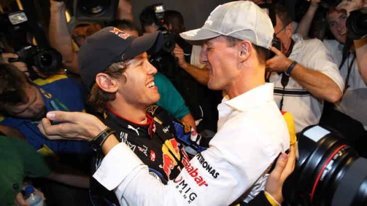 Vettel und Schumacher waren bei Race of Champions lange ein spitzen Team. (Foto)