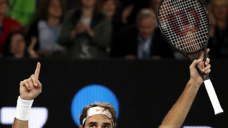 Der Schweizer Roger Federer gewinnt die Australian Open 2017. (Foto)
