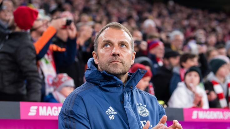 Nach dem Sieg vom FC Bayern München darf Hansi Flick als Interimstrainer erst einmal bleiben. (Foto)