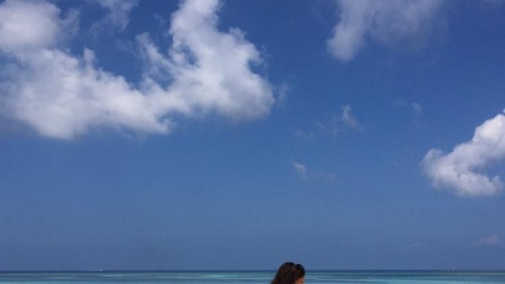 Statt einer Gratulation für Ronaldo gab es von Irina heiße Strand-Fotos. (Foto)