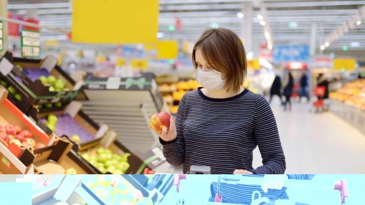 Das Coronavirus sorgt auch beim Einkaufen für Verunsicherung.