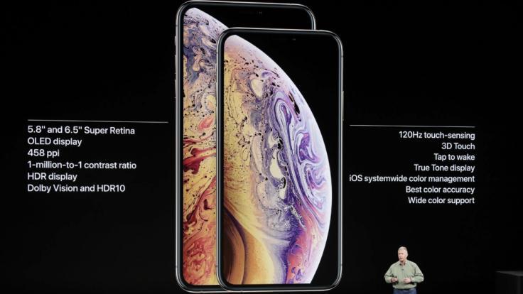 Phil Schiller, Senior Vice President of Worldwide Marketing von Apple, spricht über das Apple iPhone XS und das Apple iPhone XS Max. (Foto)