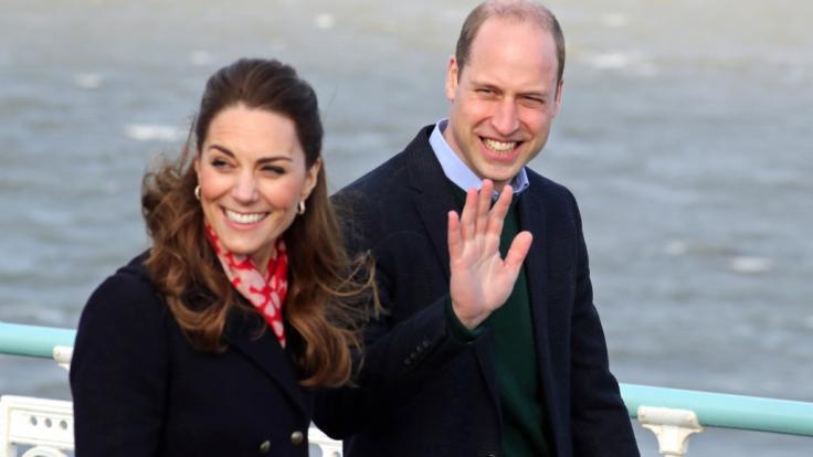 Kate Middleton erwartete bei ihrem Besuch im Süden von Wales eine handfeste Überraschung. (Foto)