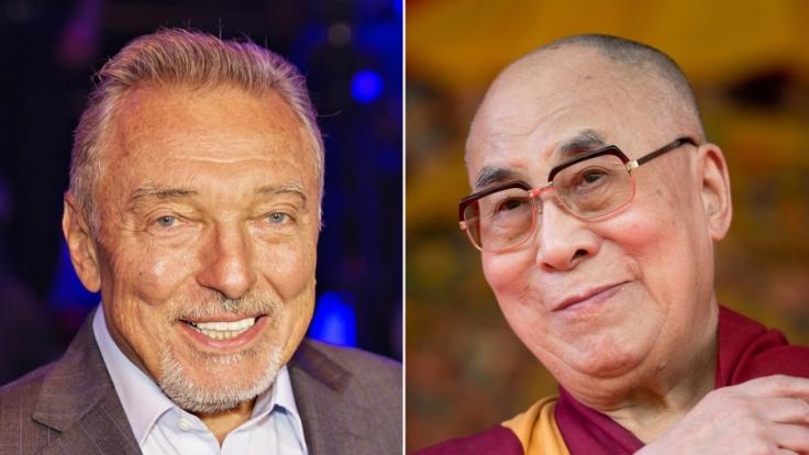 Karel Gott und der Dalai Lama sind in Prag das erste Mal aufeinander getroffen.