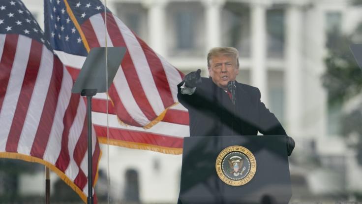 Donald Trump, Präsident der USA, hat den Mob mit seiner letzten Rede regelrecht angestachelt. (Foto)