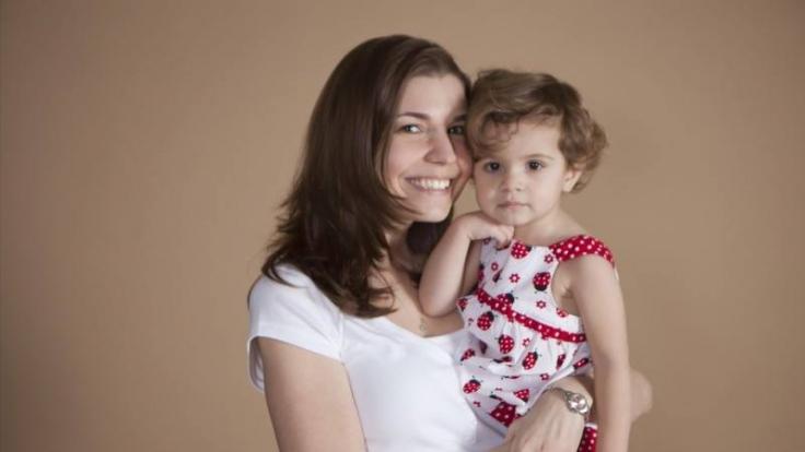 Heather McManamy mit ihrer kleinen Tochter Brianna (4).