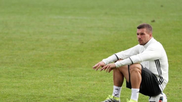 Lukas Podolski hat sich unter die Nadel gelegt. (Foto)