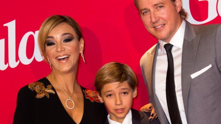 San Diego Pooth mit seinen Eltern Verona und Franjo Pooth bei der Gala-Jubiläumsfeier im Jahr 2014. (Foto)