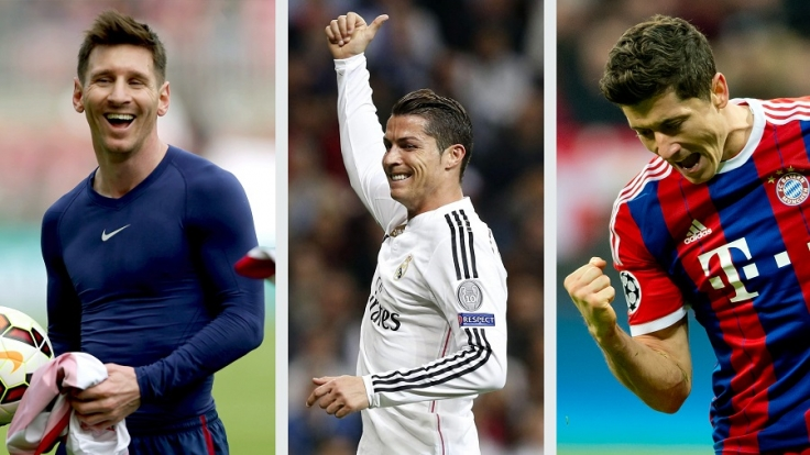 Lionel Messi, Cristiano Ronaldo und Robert Lewandowski sind unter den Topverdienern der Fußball-Stars (v.l.).