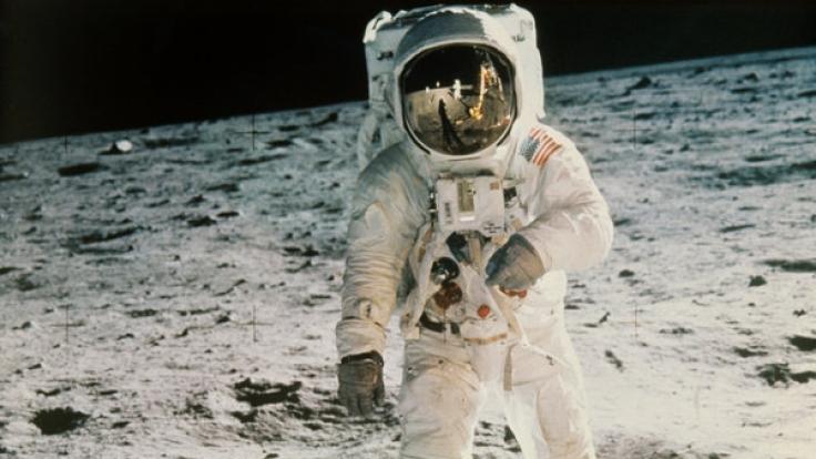 Der Mann im Mond: Neil Armstrong war der erste - angeblich. (Foto)