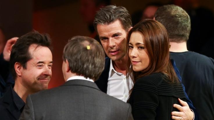 Markus Lanz zusammen mit seiner Frau nach dem Ende von Wetten, dass..?