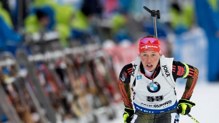 Laura Dahlmeier entwickelt sich durch ihre starke Performance zum neuen deutschen Biathlon-Star. (Foto)