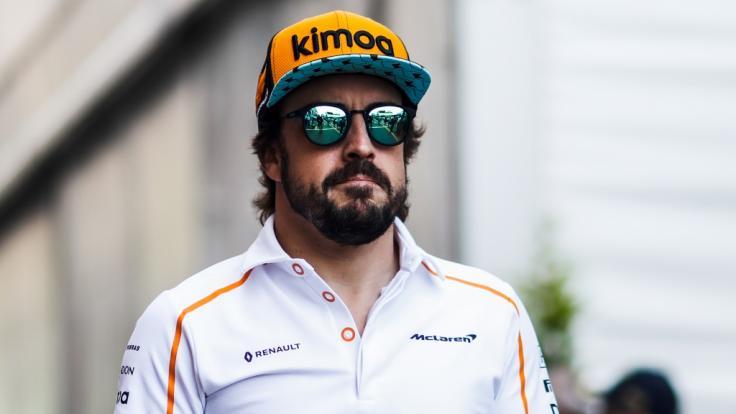 Formel-1-Rennfahrer Fernando Alonso wurde beim Radfahren verletzt. (Foto)