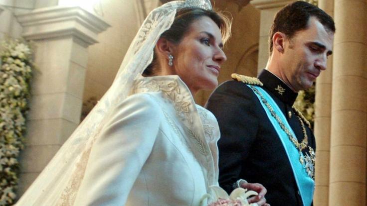 Am 22. Mai 2004 gaben sich Prinz Felipe von Spanien und seine Verlobte Letizia Ortiz Rocasolano das Ja-Wort.