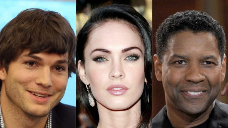 Ashton Kutcher, Megan Fox, Denzel Washington: Sie alle haben skurrile Schönheitsmakel. (Foto)