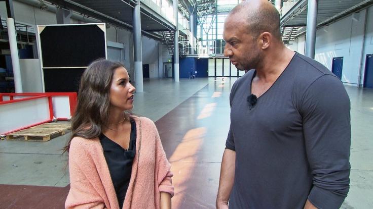 Sarah Lombardi im Interview mit Detlef Soost. (Foto)