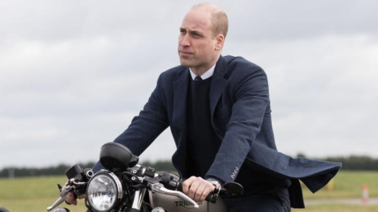 Prinz William gilt als großer Motorrad-Fan.