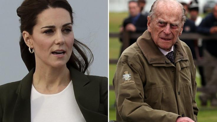 Herzogin Kate und Prinz Philip landeten unfreiwillig in der Presse. (Foto)