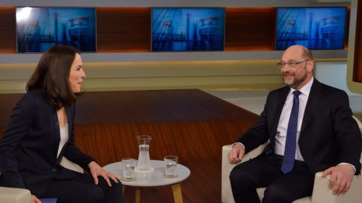 Martin Schulz, designierter Kanzlerkandidat der SPD, im Gespräch mit Anne Will.