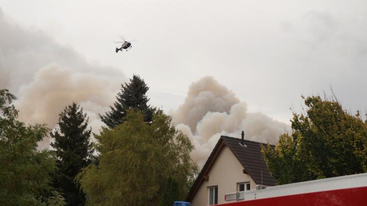 Ein Feuer hat sich im Südwesten Brandenburgs auf einer großen Waldfläche ausgebreitet. Betroffen seien rund 30 Hektar Fläche, sagte der Waldbrandschutzbeauftragte des Landes.