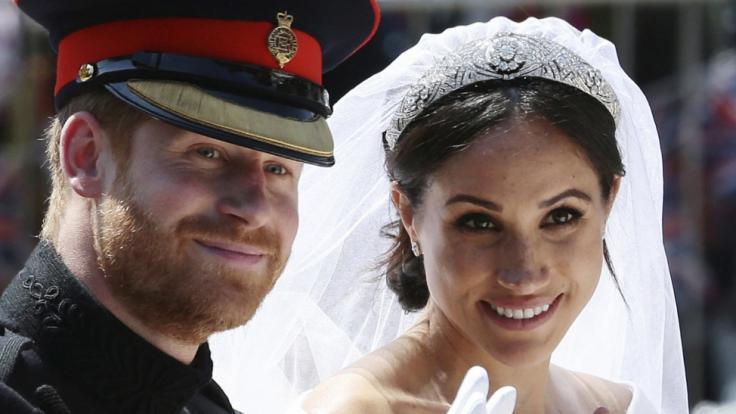 Prinz Harry und Meghan Markle an ihrem Hochzeitstag.