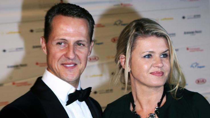 Formel-1-Rennfahrer Michael Schumacher und seine Frau Corinna.