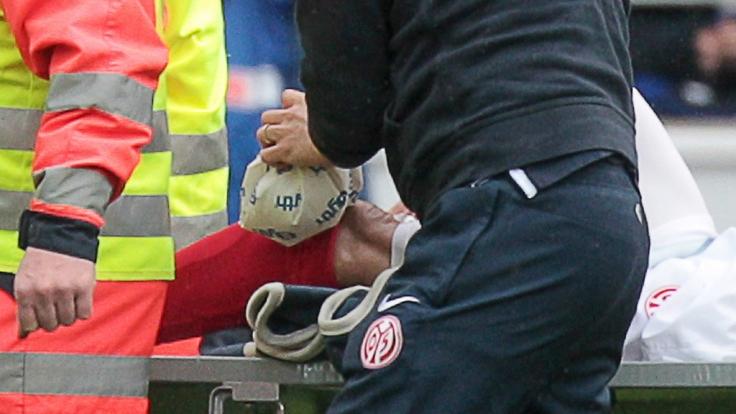 Für Elkin Soto ist die Saison in der Fußball-Bundesliga beendet. (Foto)