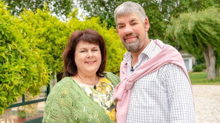 Bauer Uwe Abel (48) und seine Gattin aus