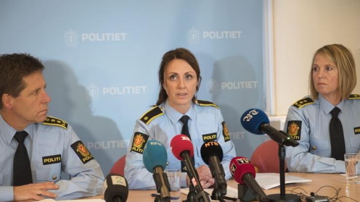 Chefermittlerin Hilde Reikras während der Pressekonferenz.