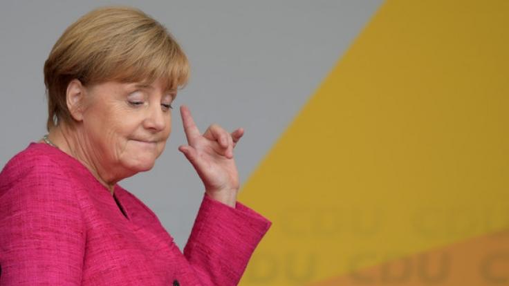 Kurz vor der Wahl schmilzt Merkels Vorsprung rapide. (Foto)