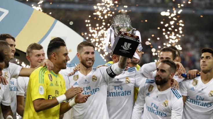 Real Madrid konnte auch das Rückspiel für sich entscheiden und holt den spanischen Supercup. (Foto)